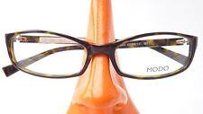 Kunststoff Gestell lunettes Damen Brille mit Hornoptik braun grün schmale Form M