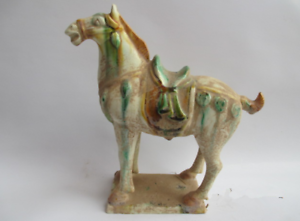 the horse 21 cm //tang sancai pottery and porcelain in ancient China