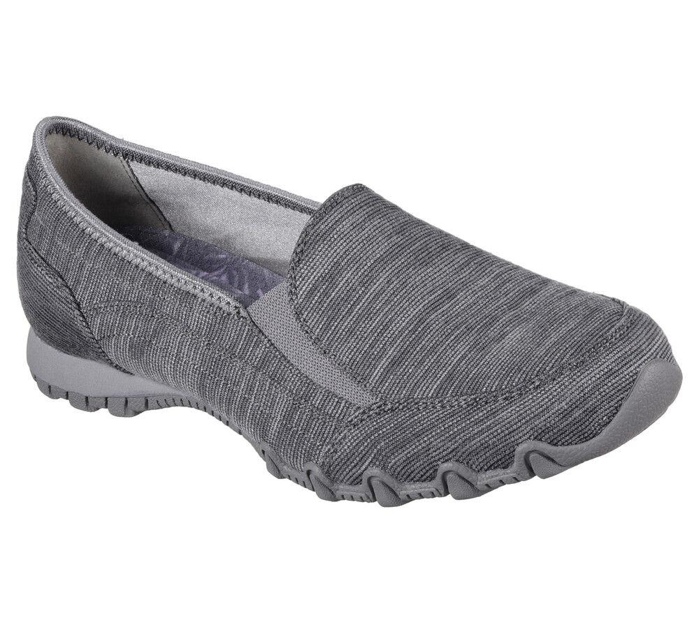NEW SKECHERS Women Sneakers Slipper Loafer Memory Foam BIKERS-LOUNGER Charcoal
