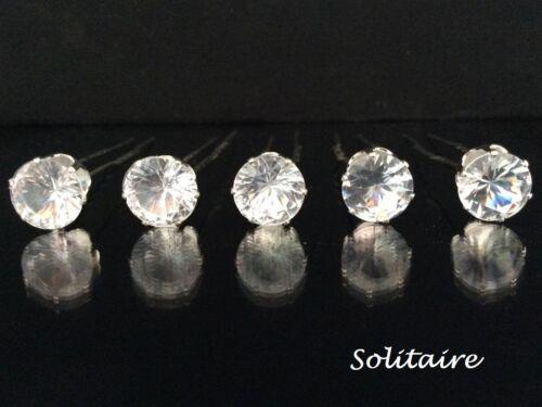 1-20 strass perle strass solitaire fleur cheveux Marguerite broches boule de mariage