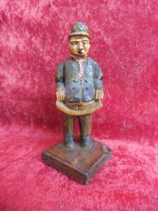 Beautiful, old Wooden Figure, Wood Carved And Painted, Signed, Süd- Tyrol, Nr.4