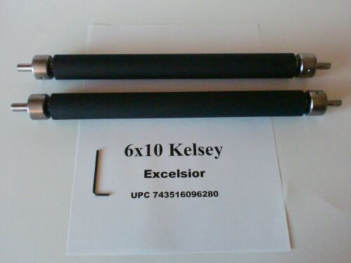 Kelsey Excelsior 6x10 Rollers for letterpress printing press all