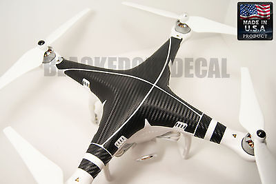 DJI Phantom Carbon Fiber Graphic Wrap Decal Skin Vision  plus 1 2 + FC40 wrap