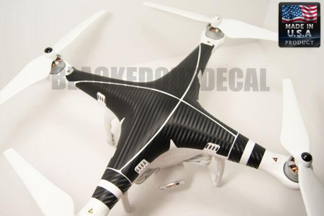 DJI Phantom Carbon Fiber Graphic Wrap Decal Skin Vision  plus 1 2 + FC40