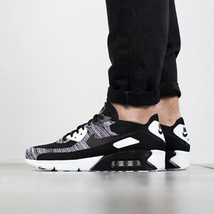 san francisco 73262 c4b7d Details about NIKE AIR MAX 90 ULTRA 2.0 FLYKNIT BLACK WHITE OREO 875943-001  Mens Sz 10.5 Shoes