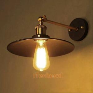 Old Fashioned Wall Lamp Shades : Vintage Industrial Style Metal Wall Mount Lamp Shade Wall Light Bulb Sconce E27 eBay