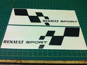 renaultsport renault rs decals stickers graphics megane twingo clio sport flag ebay. Black Bedroom Furniture Sets. Home Design Ideas