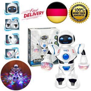 Roboter-Kinder-Spielzeug-INTELLIGENTE-Elektronisches-Spielzeug-Taenze-Musik-Licht