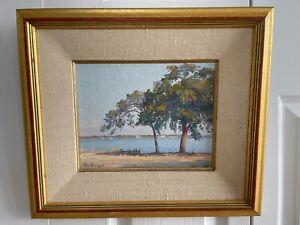 Cuban-American Artist Felix Ramos Original Oil on Canvas Painting
