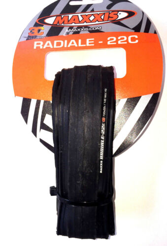 700c road race bike tire 700 x 22c maxxis radiale radial 145 PSI black racing