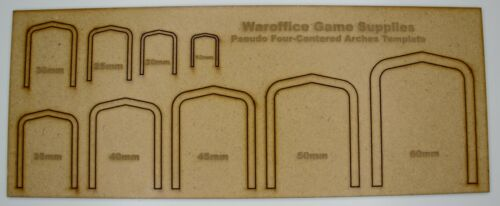 MDF PSUEDO FOUR ARCHES TEMPLATE WARGAMES DND TRAINS SCENERY WARHAMMER MODEL