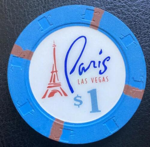 NV Paris Las Vegas $1house chip 1999 Paulson Hat And Cane H/&C