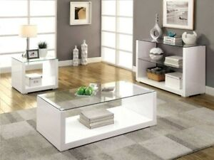 Sandro high gloss glass coffee side hall end console table - Glass side tables for living room uk ...