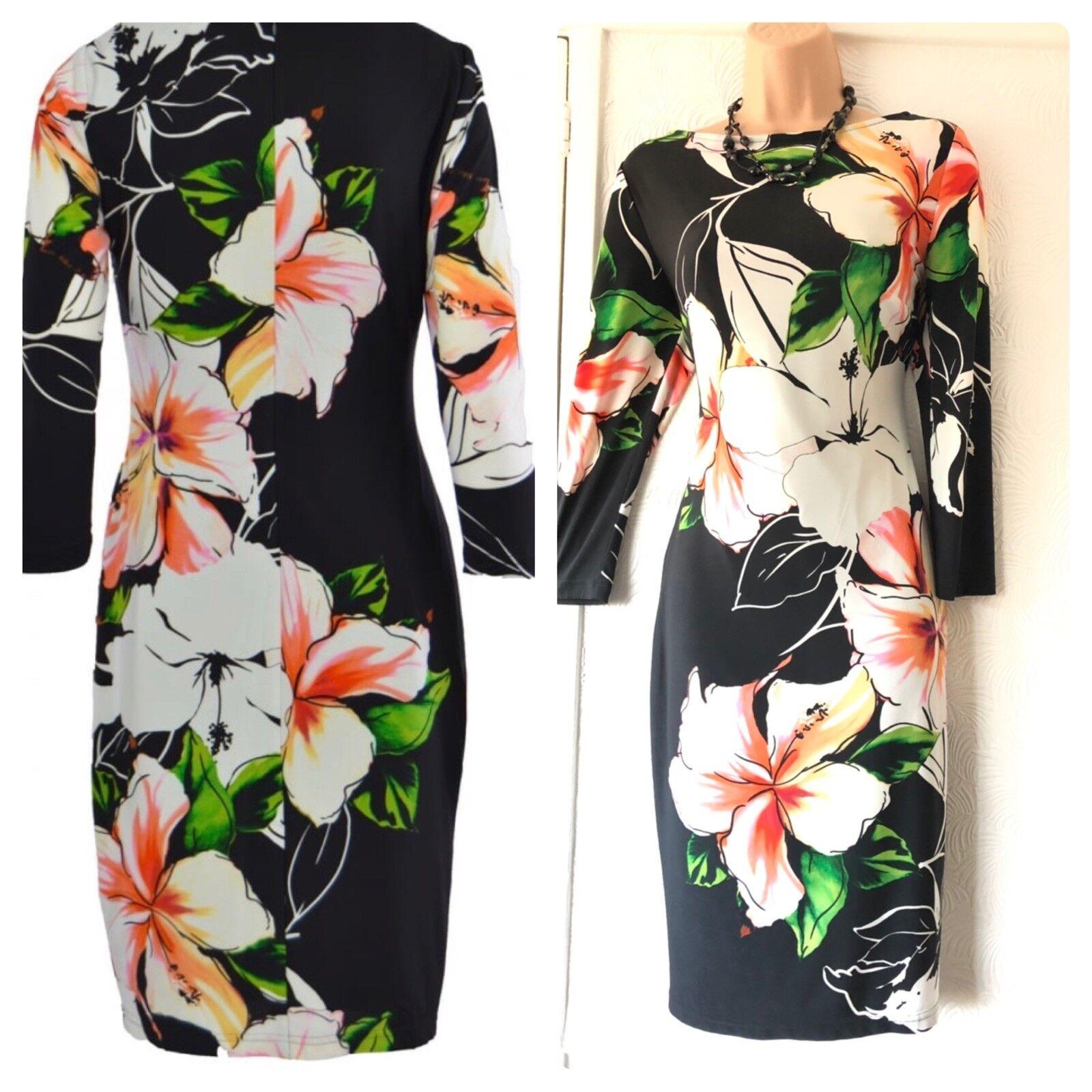 Beautiful Joseph Ribkoff Multi Colour Floral Stretchy Dress Size 12