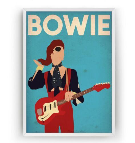 Ziggy Stardust Unframed David Bowie Poster Art Print Music Room Gift