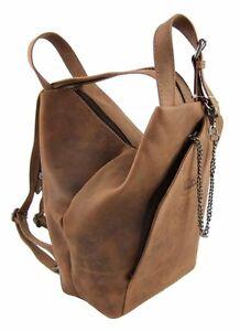 LandLeder-City-Bag-Biker-Rucksack-Rind-Leder-Daybag-Damen-Schulter-Tasche-1008
