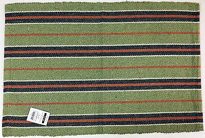 Newport Reversible Rag Rug Green 20 inch by 30 inch