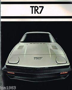 Automobilia 1977 Triumph Tr7 Verkaufsbroschüre/flieger,tr-7 Accessoires & Fanartikel