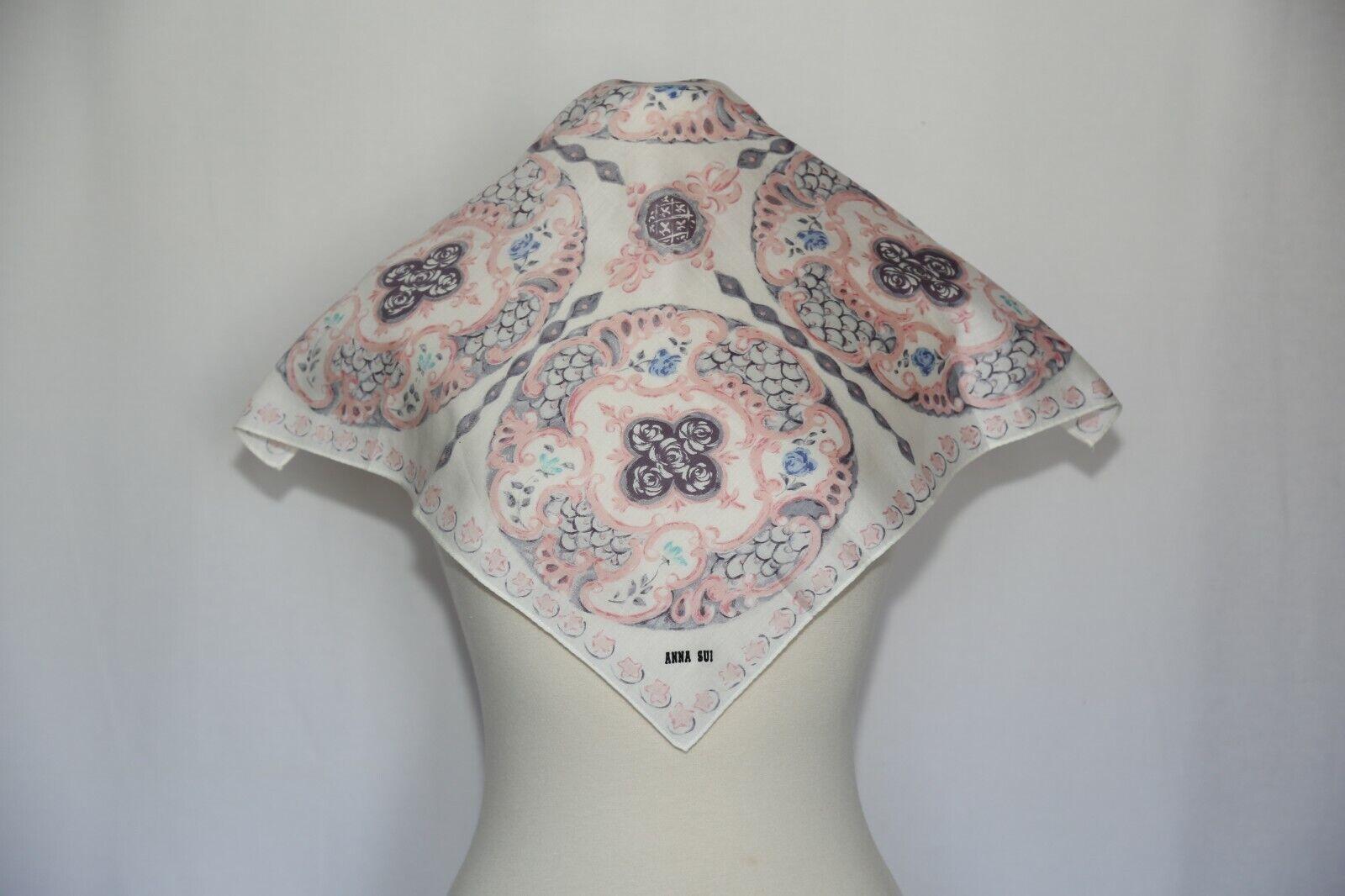 Authentic Anna Sui designer cotton scarf neckerch… - image 2