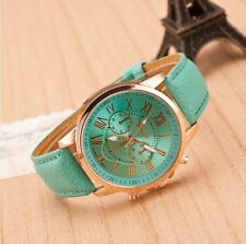 GENEVA BRAND CHRONOGRAPH STYLED WOMEN'S WRIST WATCH - Mint/Light Blue