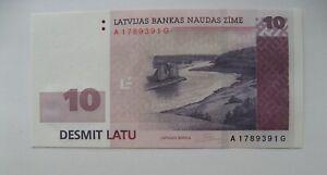 LATVIA-LETTLAND-10-LATU-2008-SERIE-AG-UNC