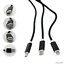 3-in-1-Cotton-Braided-1M-USB-Charging-Cable-Lead-Type-C-Micro-B-8-pin-Black thumbnail 2