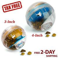 Dog Treat Dispenser Ball Toy Iq Treat Interactiv 3 4in Plastic Puzzle Food Puppy