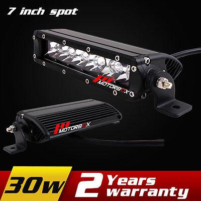 7inch 30w LED Work Light Bar 12V 24V Spot Offroad Tractor ATV 4WD Fog light