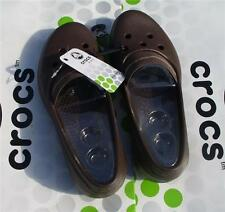 CROCS JUNEAU MOLLY GIANNA ALICE MARY JANE DRESS FLAT SHOE~Brown Tan~Women 11~NWT