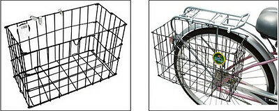 Popular Durable Grocery Commuter Side Black Folding Rear Basket For Bike Bicy LJ