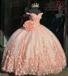 Charming Ball Gown Pink Quinceanera Dress Lace Applique Beading Sweet 16 Dress