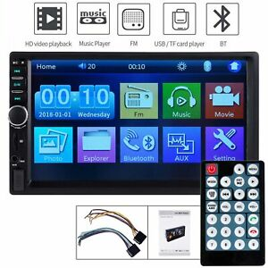 Bluetooth-Car-Radio-Stereo-7-Inch-Double-2DIN-FM-USB-MP5-Player-Touch-Screen