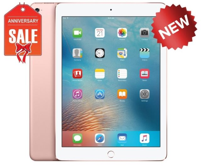 NEW Apple iPad Pro 32GB, Wi-Fi + Cellular (Unlocked), 9.7in - Rose Gold