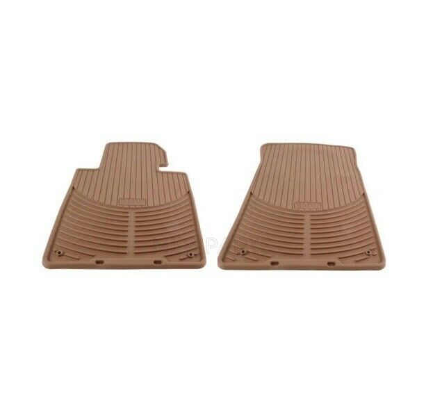 Genuine NEW Front Beige Rubber All Weather Floor Mats For