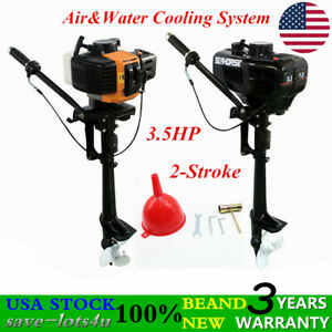 Details about 2 Stroke 3 5 HP Air/Water Cooling Outboard Motor Fishing  Inflatable Boat Engine