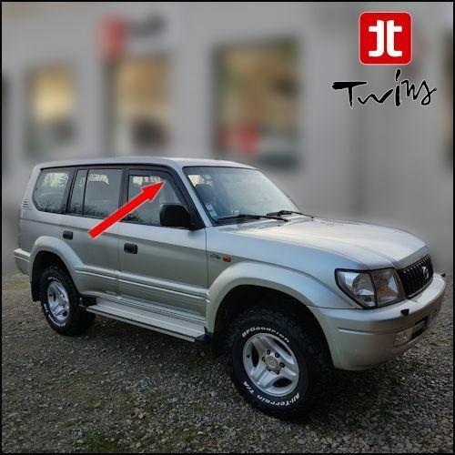 Déflecteurs de vent pluie air teintées Toyota Land Cruiser J90 3 et 5p 1996-2002