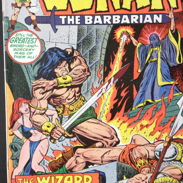 CONAN The BARBARIAN 29 — Aug 1973 MARVEL Buscema Thomas Two Against Tyre REH