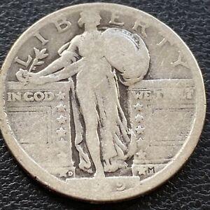 1919 D Standing Liberty Quarter 25c Circulated #29504