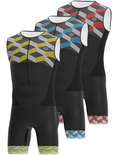 DHERA Triathlon Tri Suit Padded Compression Running Swimming Cycling Skinsuit