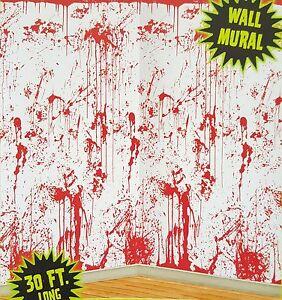 30ft bloody crime scene zombie walls mural halloween scene for Bloody wall mural