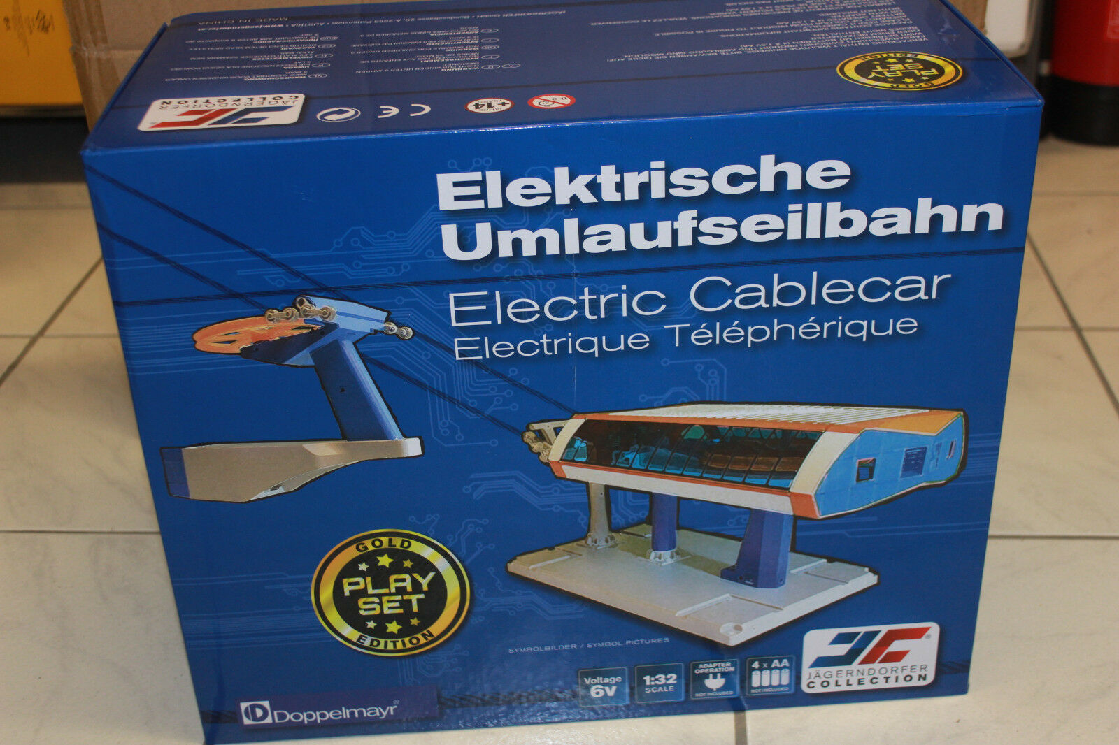 Jägerndorfer Jc 84393 Unig-V Cable Car 1 3 2 Orbit Electric New in Original Box