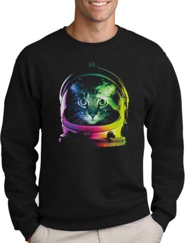 Space Cat Astronaut Cat Helmet Sweatshirt Gift