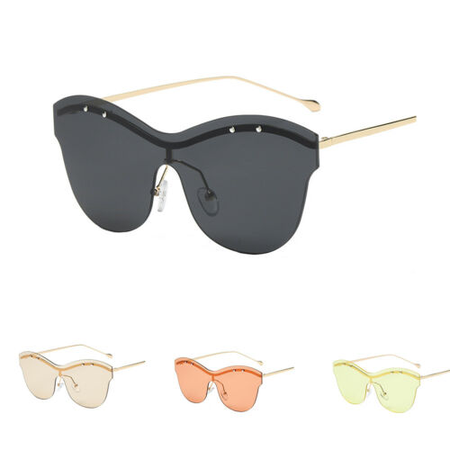 EE/_ FASHION UNISEX RIMLESS OVERSIZED OUTDOOR SUNGLASSES COLORED LENS EYEWEAR NIC