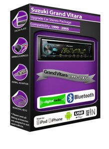 SUZUKI-GRAND-VITARA-Radio-DAB-Pioneer-de-coche-CD-USB-PLAYER-Bluetooth-Kit