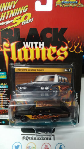 Johnny Lightning Street Freaks Black With Flames /'60 Ford Country Squire NG64