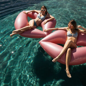 Giant-Inflatable-Lips-PINK-amp-RED-Pool-Float-Ride-On-170cm-Inflatable-Kiss