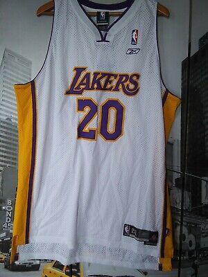 Gary Payton #20 Los Angeles Lakers VTG Reebok Sewn Swingman Jersey Adult 2XL New | eBay