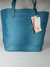 Pauls Boutique London REVERSIBLE Shopper Bag Teal/ Silver