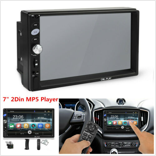 """7/""""HD Touch Screen 2Din Car Stereo Radio Bluetooth FM MP5 Player+Rear View Camera"""