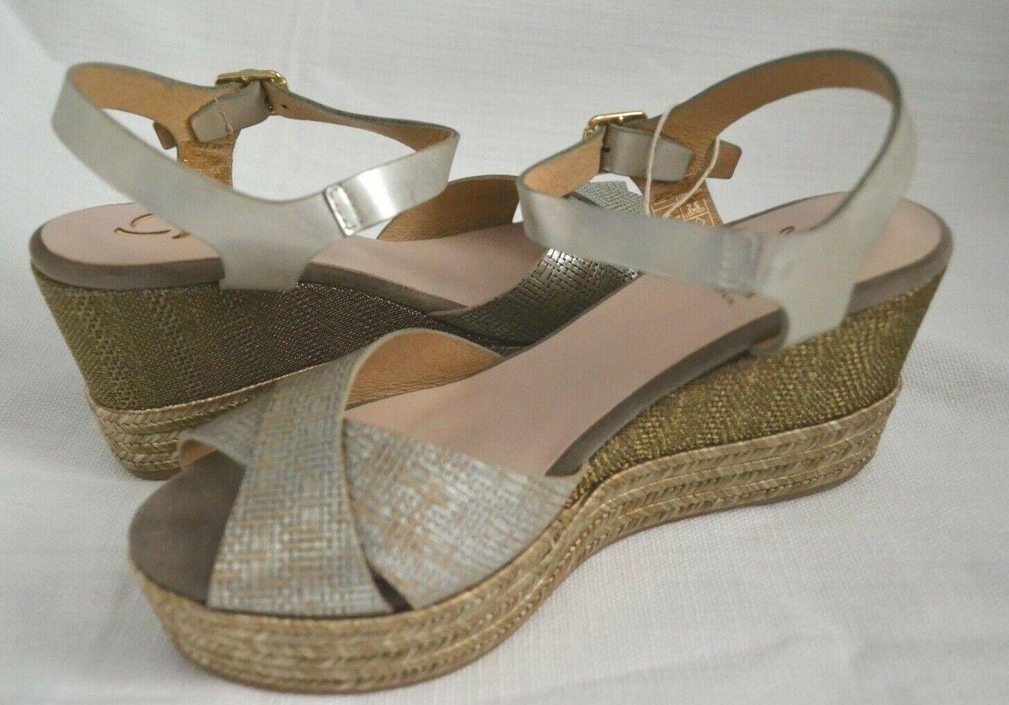 Kanna Women's Espadrilles shoes KV7303 Light Grey Size 38 NIB